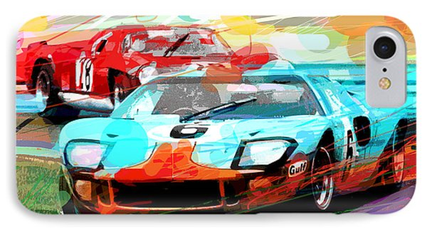 Ford Gt 40 Leads The Pack IPhone Case by David Lloyd Glover