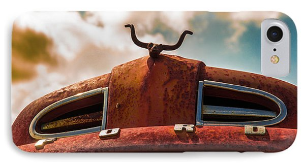 IPhone Case featuring the photograph Ford Hood Ornament by Bartz Johnson