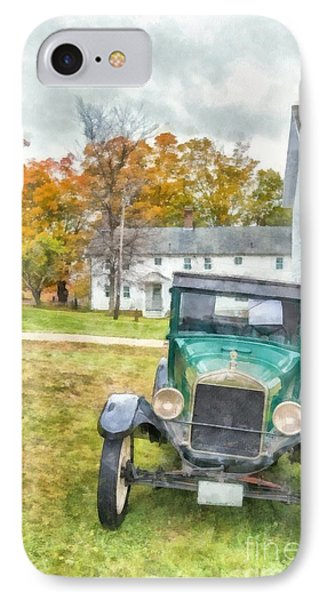 Ford Model A Sedan IPhone Case by Edward Fielding