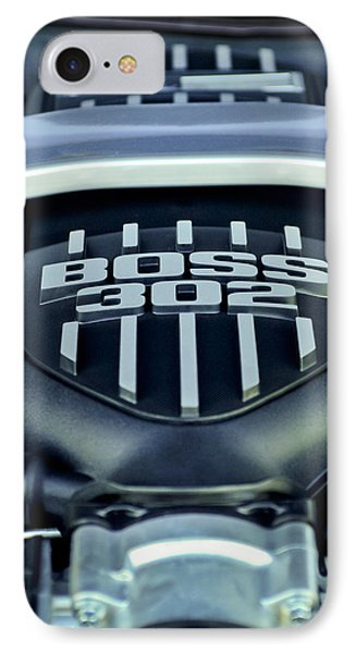 Ford Mustang Boss 302 Engine Phone Case by Jill Reger