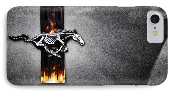 Ford Mustang Horse IPhone Case by Tim Gainey