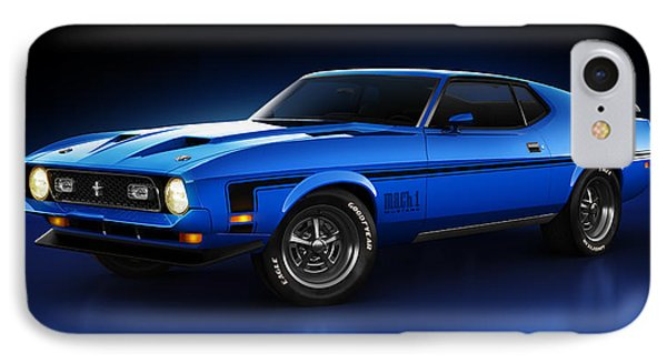 Ford Mustang Mach 1 - Slipstream IPhone Case by Marc Orphanos
