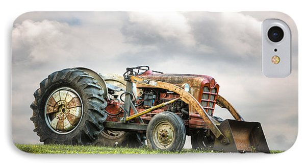 Ford Powermaster Tractor On A Hill Phone Case by Gary Heller