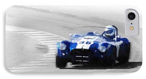 Ford Shelby Cobra Laguna Seca Watercolor IPhone Case
