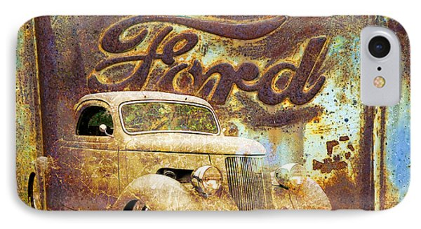 Ford Coupe Rust IPhone Case by Steve McKinzie