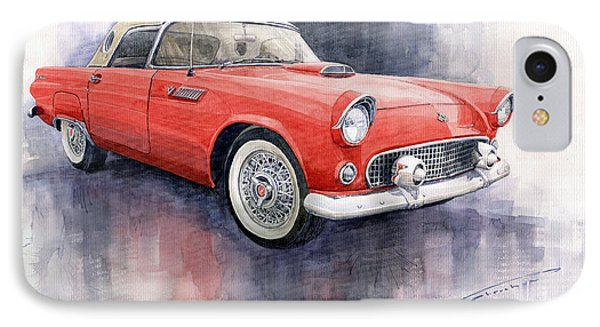 Ford Thunderbird 1955 Red IPhone 7 Case by Yuriy  Shevchuk