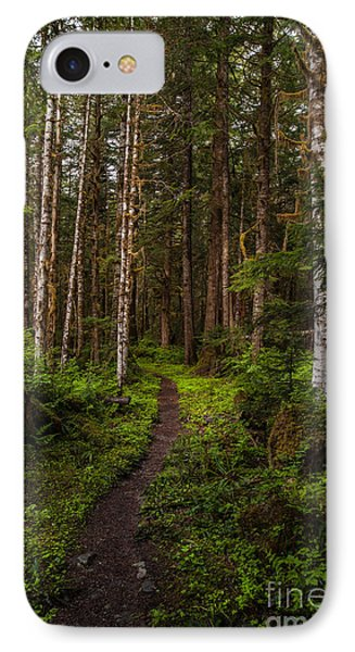 Forest Alder Path Phone Case by Mike Reid