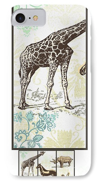 Forest Animals Group Suitable For Hanging Frames IPhone Case by Art World