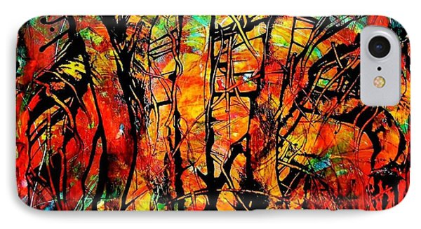 IPhone Case featuring the painting Forest by Carolyn Repka