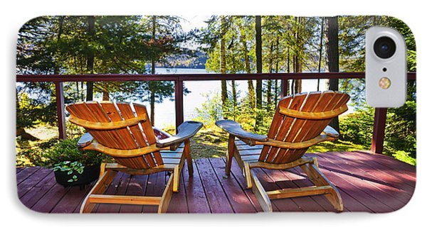 Forest Cottage Deck And Chairs Phone Case by Elena Elisseeva