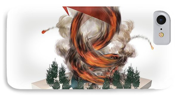 Forest Fire Tornado IPhone Case