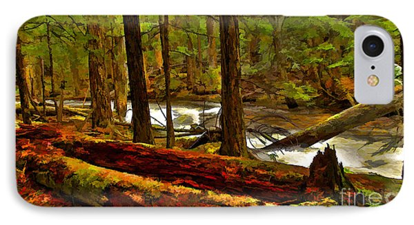 IPhone Case featuring the digital art Forest Floor by Sam Rosen