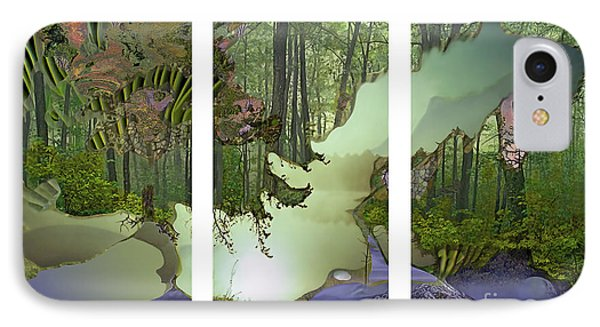 IPhone Case featuring the digital art Forest Fog by Ursula Freer