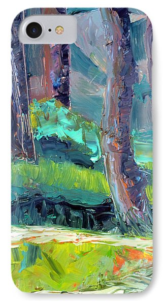 Forest In Motion IPhone Case by Julie Maas