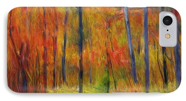 IPhone Case featuring the painting Forest In The Fall by Bruce Nutting