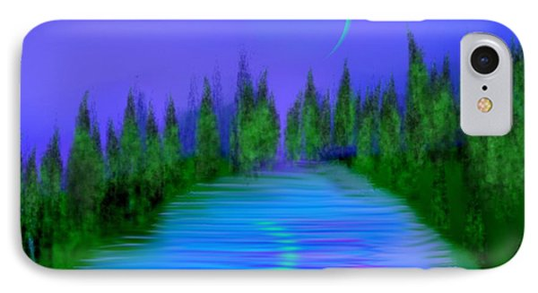 Forest Lake. Night. IPhone Case by Dr Loifer Vladimir