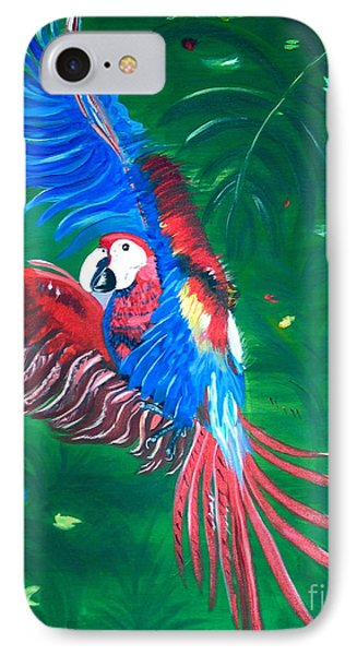 IPhone Case featuring the painting Forest Landing by Phyllis Kaltenbach