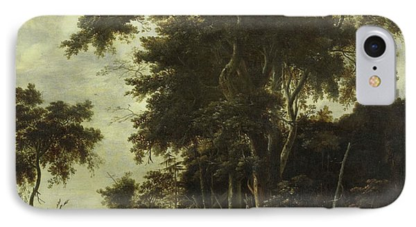 Forest Landscape With A Woodsmans Shed, Roelant Roghman IPhone Case