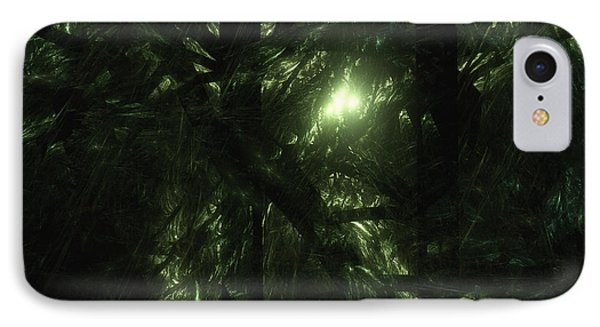 IPhone Case featuring the digital art Forest Light by GJ Blackman