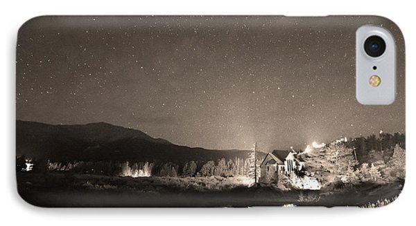 Forest Of Stars Above The Chapel On The Rock Sepia IPhone Case by James BO  Insogna