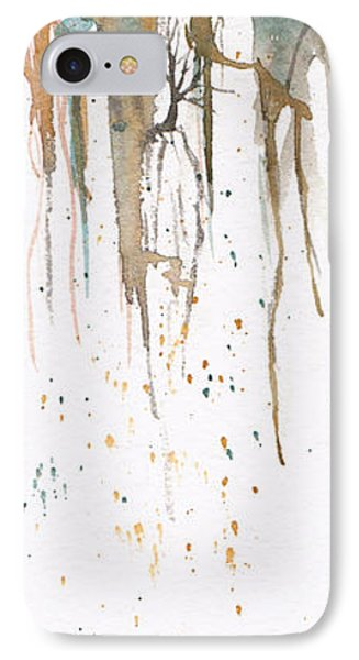 IPhone Case featuring the painting Forest On A Cliff by Rebecca Davis