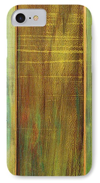 IPhone Case featuring the sculpture Forest Painted Door by Asha Carolyn Young