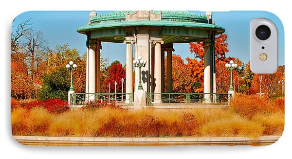 IPhone Case featuring the photograph Forest Park Gazebo by Peggy Franz