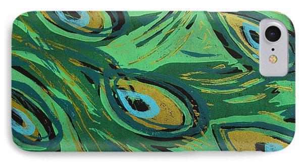 Forest Peacock IPhone Case by Jennifer Schwab