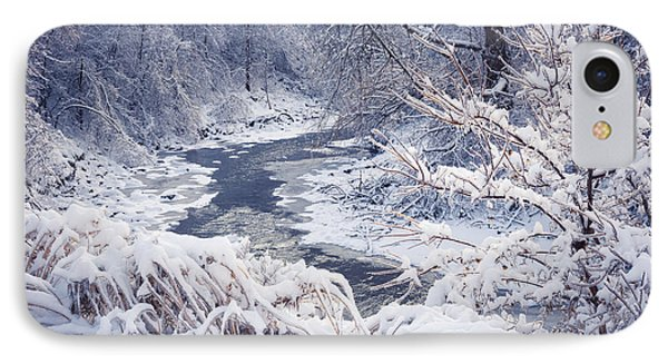 Forest River In Winter Snow IPhone Case by Elena Elisseeva