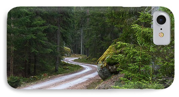 IPhone Case featuring the photograph Forest Road by Kennerth and Birgitta Kullman