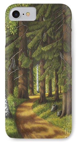 Forest Road IPhone Case by Veikko Suikkanen