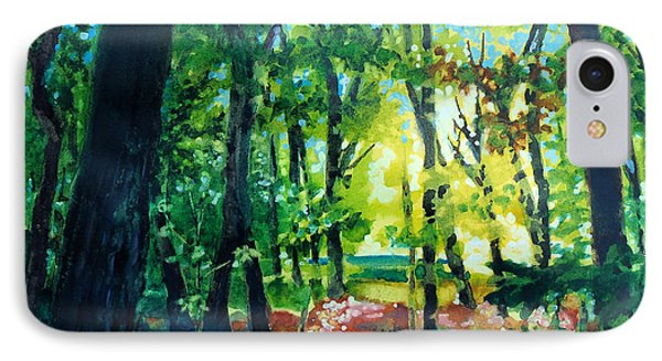 Forest Scene 1 IPhone Case by Kathy Braud