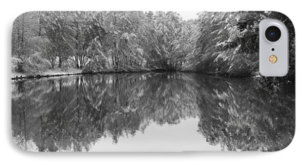 IPhone Case featuring the photograph Forest Snow by Miguel Winterpacht