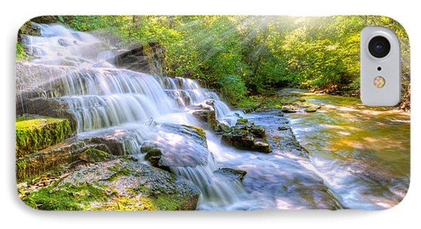 Forest Stream And Waterfall IPhone Case by Alexey Stiop