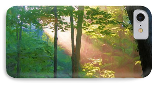 IPhone Case featuring the photograph Forest Sunbeam by Dennis Lundell