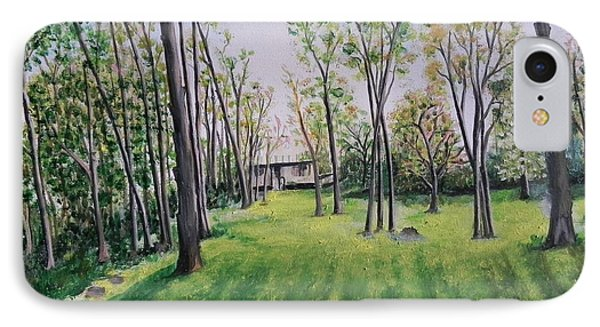 Forest View Phone Case by Usha Rai