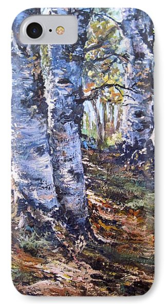 IPhone Case featuring the painting Forest Walk by Megan Walsh