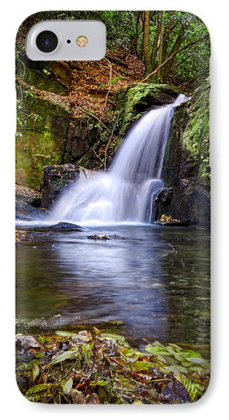 Forest Waterfall IPhone Case by Debra and Dave Vanderlaan