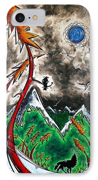 Forever Wild Original Madart Painting Phone Case by Megan Duncanson