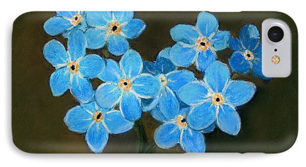 Forget-me-not IPhone Case by Anastasiya Malakhova