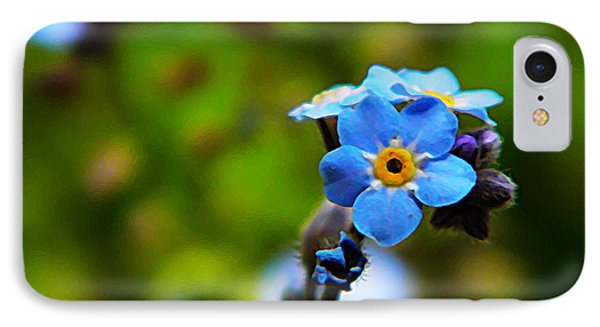 Forget Me Not Bloom Phone Case by Chris Berry