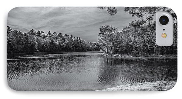 Fork In River Bw IPhone 7 Case