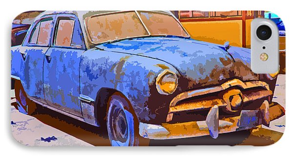IPhone Case featuring the photograph Forlorn 1949 Ford  by Samuel Sheats
