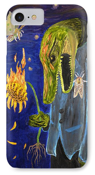 IPhone Case featuring the painting Forlorn Disideratum by Christophe Ennis