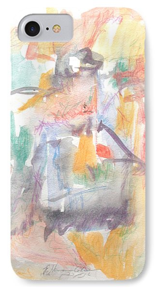 IPhone Case featuring the painting Formal Signature by Esther Newman-Cohen