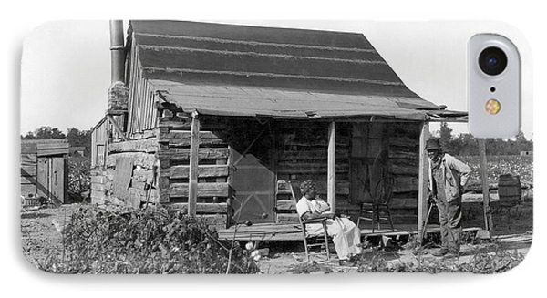 Former Slaves At Their Cabin IPhone Case by Underwood Archives