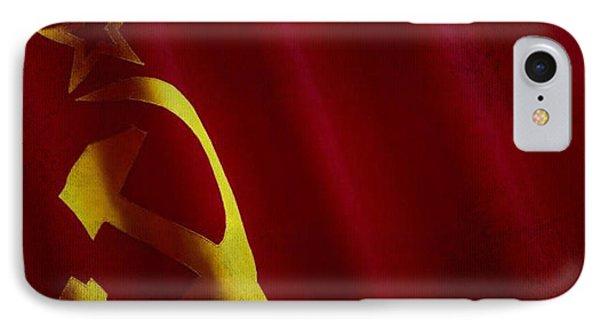 Former Ussr Flag Waving On Canvas IPhone Case by Eti Reid