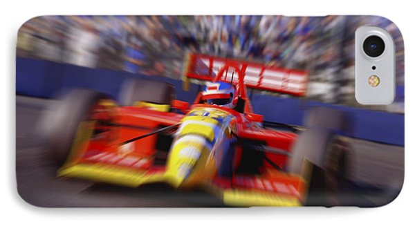 Formula Racing Car At Speed IPhone Case by Don Hammond