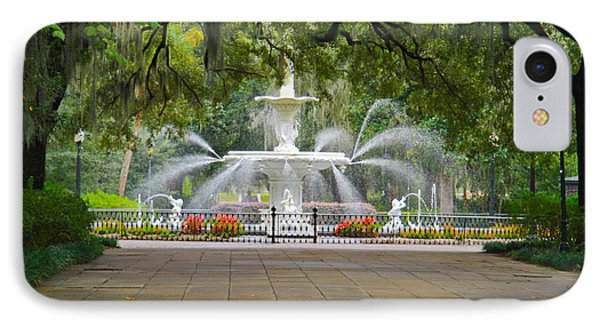 Forsyth Fountain IPhone Case by John Roberts