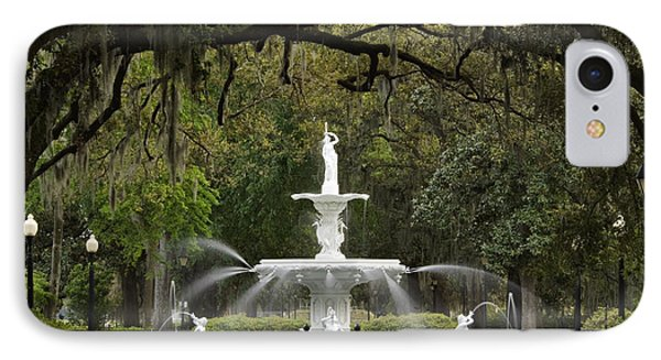 Forsyth Park Fountain - D002615 IPhone Case